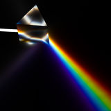 Spectroscopy of light by prism. 3d rendering of prism royalty free stock photo