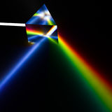 Spectroscopy of light by prism stock illustration
