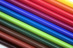 Spectrum. Colorful pencils forming a spectrum of colours - great background image Stock Photography
