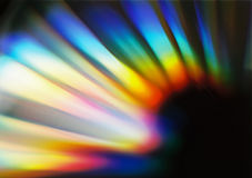 Spectrum 2. Light reflection on a cd Stock Image