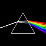Spectrum. Color prisms light refraction Stock Photos
