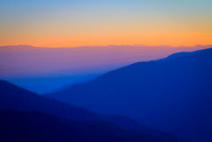Spectrum. The sunset over Rarau mountain, Suceava, Romania royalty free stock photography