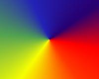 Spectrum. Of light in radial pattern Stock Photo