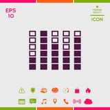 Spectrum analyzer, equalizer icon. Signs and symbols - graphic elements for your design Stock Images