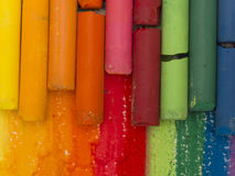 Spectrum of artistic crayons Royalty Free Stock Photos