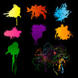 Spectrum blots Royalty Free Stock Photos