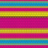 Brick Grid CMYK Colors Striped Vector Print Texture Background Pattern. Spectrum Brick Grid CMYK Colors Stripe Vector Print Texture Background stock illustration