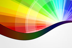 Spectrum Burst Stock Photo
