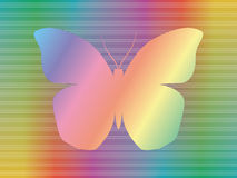 Spectrum butterfly. Shape of butterfly over abstract spectrum background Royalty Free Stock Photography