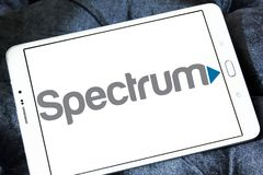 Spectrum cable service brand logo Stock Photo