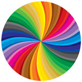 Spectrum circle. Multi colored, spectrum, moving background. Vector illustration without gradients Stock Photography