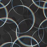 Spectrum circles seamless pattern Stock Photos