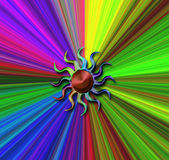 Spectrum of color. From the suns rainbow vector illustration