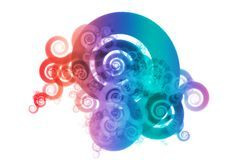 Spectrum Color Blend Abstract Design Background. On White Royalty Free Stock Photo