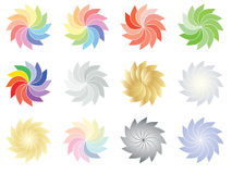 Spectrum and color flowers. Set of spectrum and color flowers vector illustration Royalty Free Stock Images