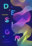 Spectrum color poster. Modern abstract design. Geometric Background for cards, invitations. posters. Mobile Technologies Concept. royalty free illustration