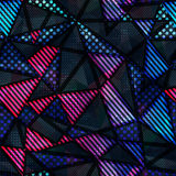 Spectrum color triangle seamless pattern Stock Images