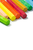 Spectrum of colorful crayons Stock Photo