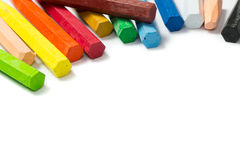 Spectrum of colorful crayons Royalty Free Stock Photos