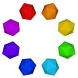 Spectrum colorful platonic ring Royalty Free Stock Photo