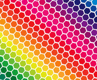 Spectrum colors in geometric blocks Stock Images