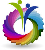 Spectrum couple logo. Illustration art of a spectrum couple logo with isolated background Royalty Free Stock Image