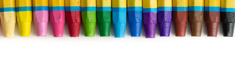 Spectrum of crayons Royalty Free Stock Images