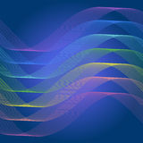 Spectrum curve line abstract background Royalty Free Stock Photos