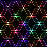Spectrum dark seamless background with shinning gems Stock Images