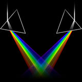 Spectrum doubles. Spectrum color prisms light refraction Stock Photography