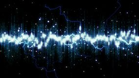 Spectrum electro animation abstract background