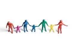 spectrum för 2 familjer Fotografering för Bildbyråer