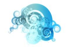 spectrum för design för färg för abstrakt backgroublandning blå Royaltyfria Bilder