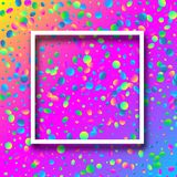 Spectrum festive background with colorful confetti. Spectrum festive background with white frame and colorful oval confetti. Vector illustration.rr Royalty Free Stock Image