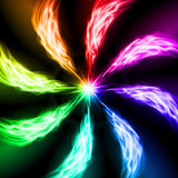 Spectrum fire waves. Stock Image