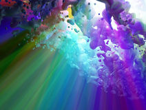 Spectrum Flow, Above. Color Spectrum abstract 3d flow background, horizontal stock illustration