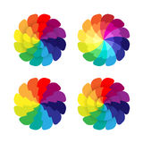 Spectrum flowers Stock Image