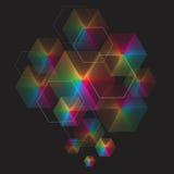 Spectrum geometric background made of hexagons. Stock Photos