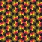 Spectrum geometric background made of hexagons. Stock Photo