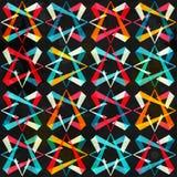 Spectrum geometric seamless pattern Royalty Free Stock Photos