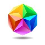 Spectrum geometric sphere Royalty Free Stock Photography