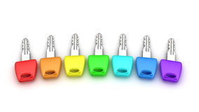 Spectrum keys Stock Photos