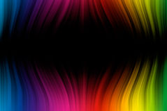 Spectrum lines on black Stock Photography