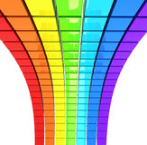 Spectrum made of colorful cubes Royalty Free Stock Photo