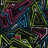 Spectrum maze seamless pattern Royalty Free Stock Photography