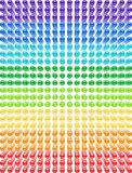 Spectrum pattern of glass beads. Stock Photography
