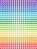 Spectrum pattern of glass beads. royalty free illustration