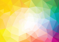 Spectrum polygon background or vector frame Stock Images