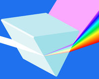 Spectrum prism. Icon for various design Stock Images