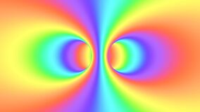 Spectrum psychedelic optical illusion. Abstract rainbow hypnotic background.